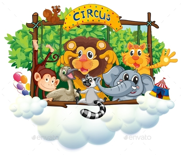GraphicRiver Different Animals at the Circus 9561354