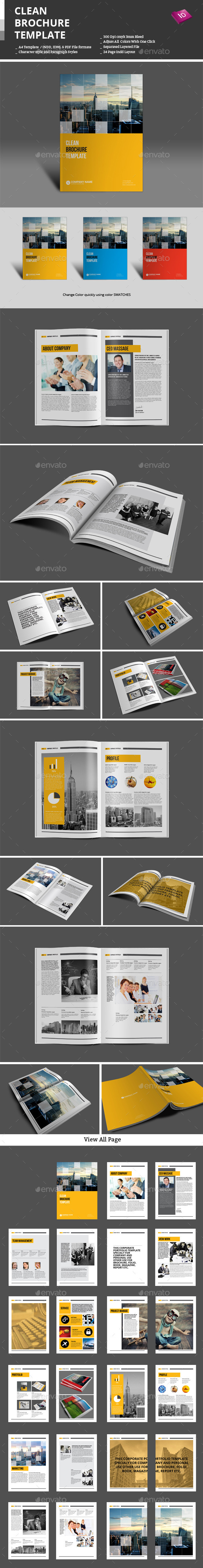 GraphicRiver Clean Brochure Template 9517748