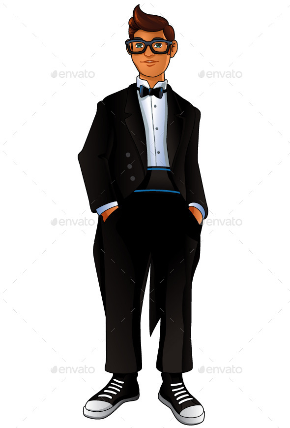 GraphicRiver Geek in a Tuxedo 9561415
