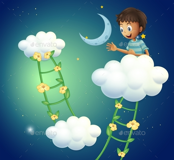 GraphicRiver Boy at the Top of the Cloud 9561445