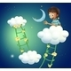 Boy at the Top of the Cloud - GraphicRiver Item for Sale