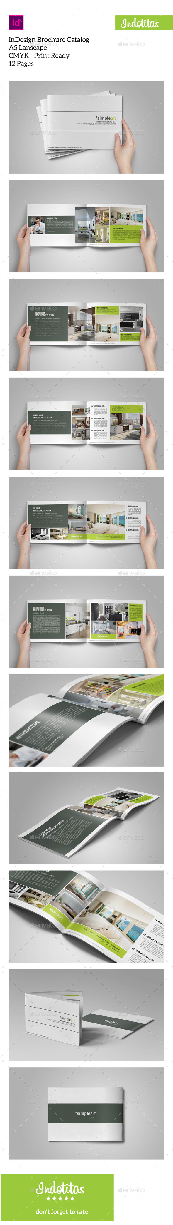 GraphicRiver Brochure Catalogs A5 Lanscape 9561478