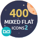 400 Mixed Flat Icons 2