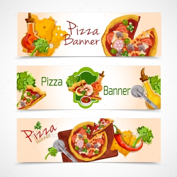 GraphicRiver Pizza Banners Set 9561969