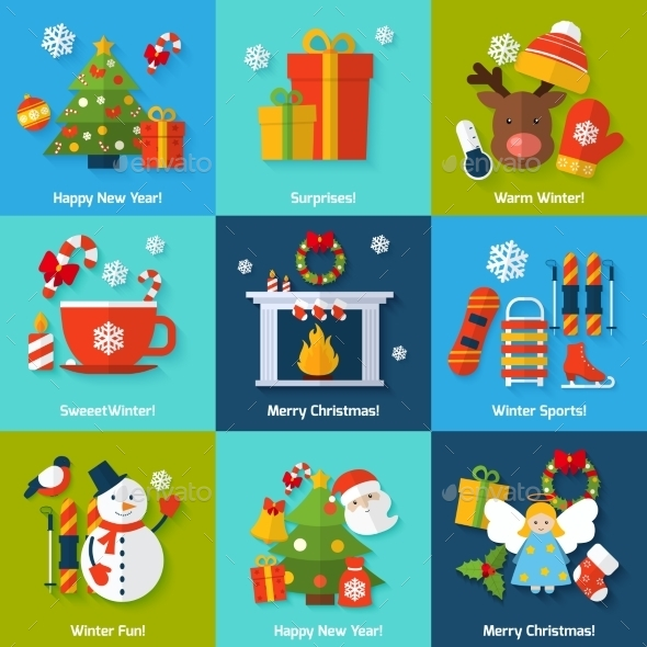GraphicRiver Winter Concept Set 9562002