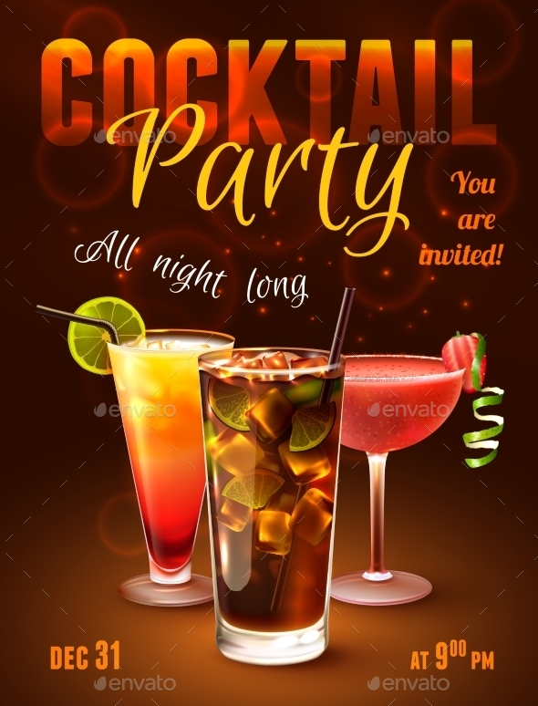 GraphicRiver Cocktail Party Poster 9562058