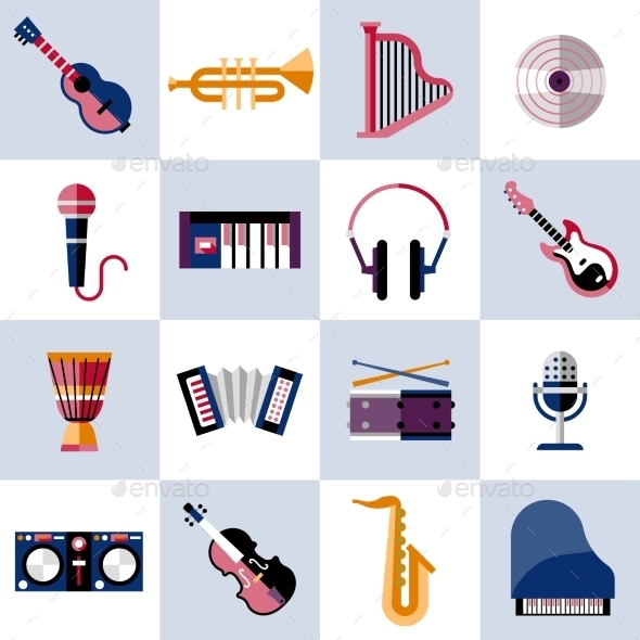 GraphicRiver Musical Instruments Set 9562133