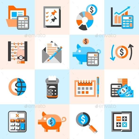 GraphicRiver Accounting Icons Set 9562139