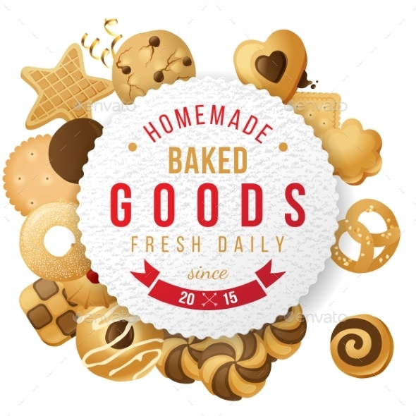 GraphicRiver Baked Goods Label with Type Design 9562143