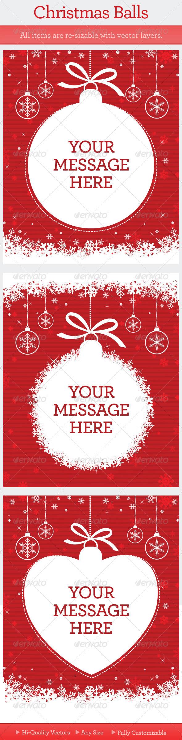 GraphicRiver Christmas Balls 971573