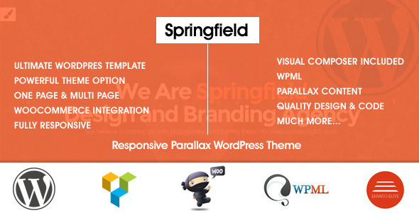 ThemeForest Springfield Responsive Parallax WordPress Theme 9510123