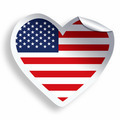Heart sticker with flag of USA isolated on white - PhotoDune Item for Sale