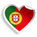 Heart sticker with flag of Portugal isolated on white - PhotoDune Item for Sale
