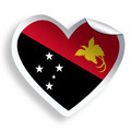 Heart sticker with flag of Papua New Guinea isolated on white - PhotoDune Item for Sale