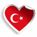 Heart sticker with flag of Turkey isolated on white - PhotoDune Item for Sale