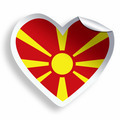 Heart sticker with flag of Macedonia isolated on white - PhotoDune Item for Sale