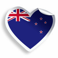Heart sticker with flag of New Zealand isolated on white - PhotoDune Item for Sale