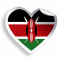 Heart sticker with flag of Kenya isolated on white - PhotoDune Item for Sale