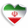 Heart sticker with flag of Iran isolated on white - PhotoDune Item for Sale