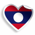 Heart sticker with flag of Laos isolated on white - PhotoDune Item for Sale