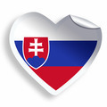 Heart sticker with flag of Slovakia isolated on white - PhotoDune Item for Sale
