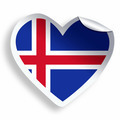 Heart sticker with flag of Iceland isolated on white - PhotoDune Item for Sale