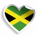 Heart sticker with flag of Jamaica isolated on white - PhotoDune Item for Sale