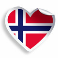 Heart sticker with flag of Norway isolated on white - PhotoDune Item for Sale