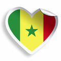 Heart sticker with flag of Senegal isolated on white - PhotoDune Item for Sale
