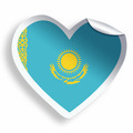 Heart sticker with flag of Kazakhstan isolated on white - PhotoDune Item for Sale