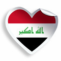 Heart sticker with flag of Iraq isolated on white - PhotoDune Item for Sale