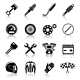 Motorcycle Parts Black Set - GraphicRiver Item for Sale