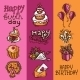 Birthday Sketch Banner Set - GraphicRiver Item for Sale