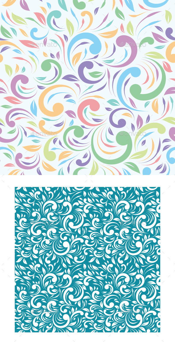 GraphicRiver Tropical Ornament Pattern 9562217