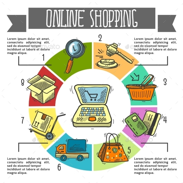 GraphicRiver Online Shopping Infographics 9562222