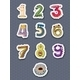 Number Stickers - GraphicRiver Item for Sale