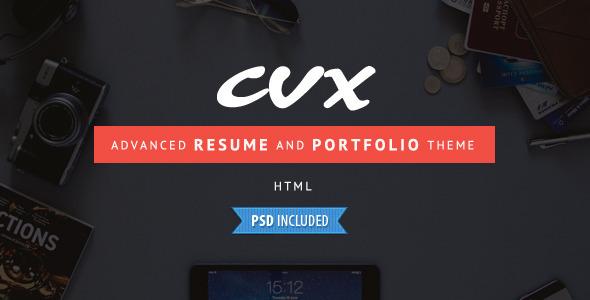 ThemeForest CVX Advanced Resume and Portfolio HTML Template 9521475