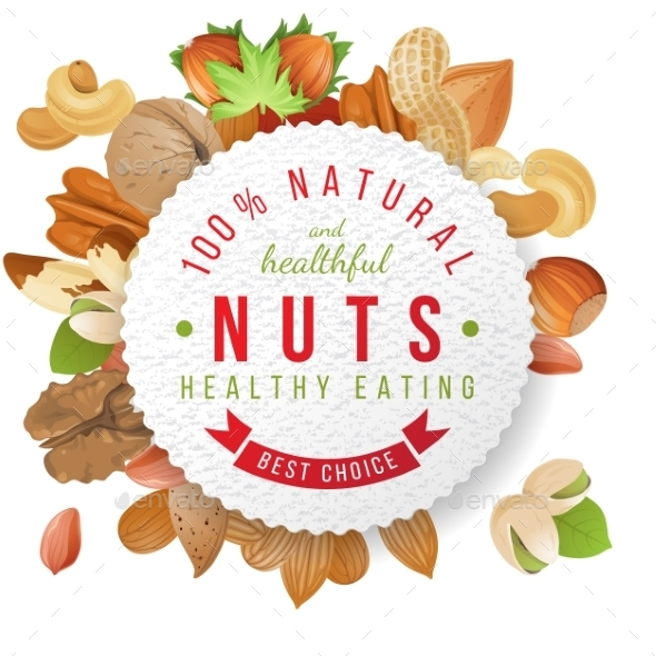 GraphicRiver Nuts Label with Type Design 9562262