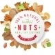 Nuts Label with Type Design - GraphicRiver Item for Sale