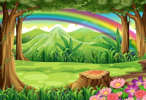 GraphicRiver A Rainbow and a Forest 9562283