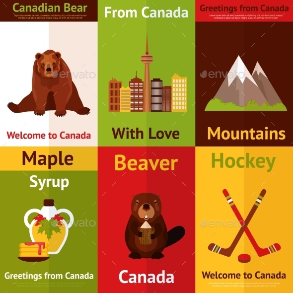 GraphicRiver Canada Mini Poster Set 9562295
