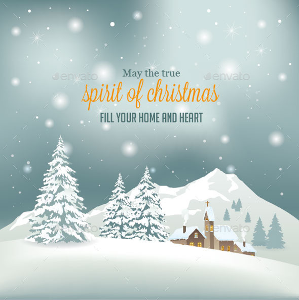GraphicRiver Retro Christmas Background 9562347