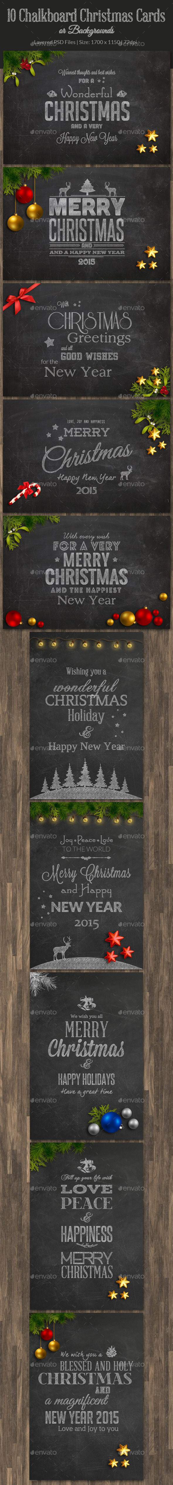 10 Christmas Chalkboard Cards