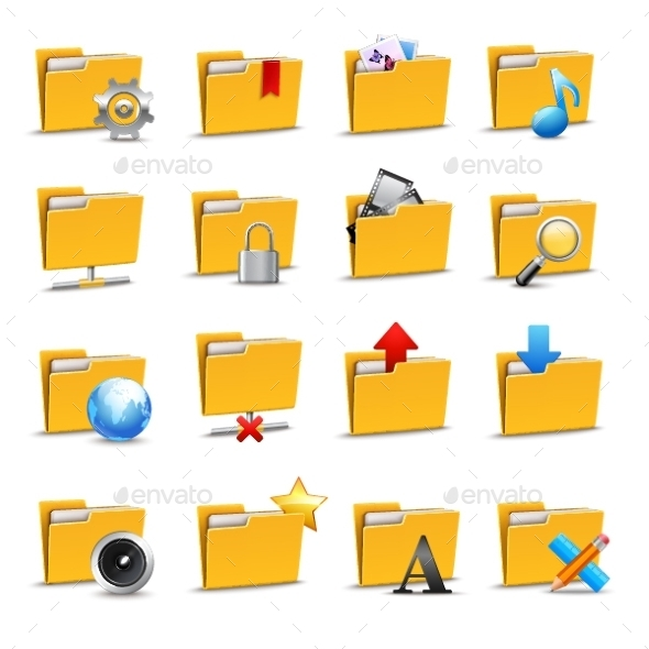 GraphicRiver Folders Icons Set 9562387