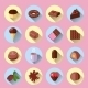 Chocolate Icons Flat  - GraphicRiver Item for Sale