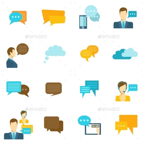 GraphicRiver Chat Icons Flat 9562467