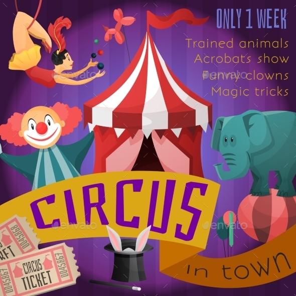 GraphicRiver Circus Retro Poster 9562517