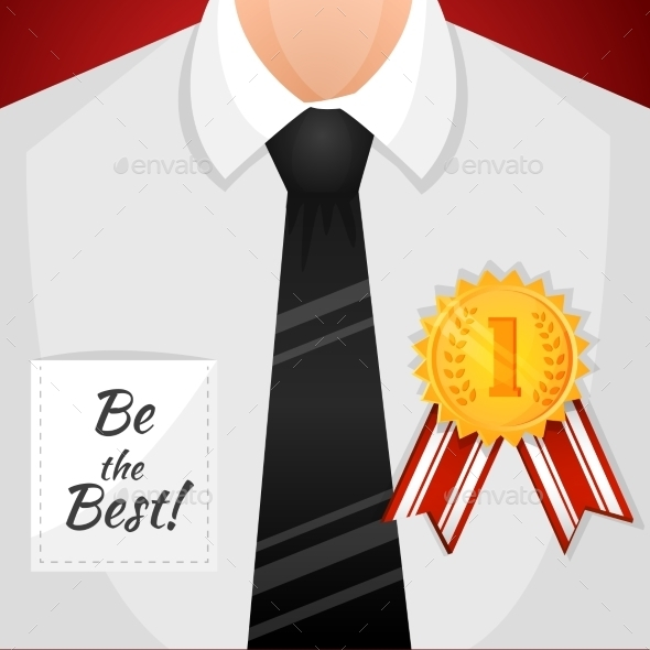 GraphicRiver Businessman Winner Background 9562520