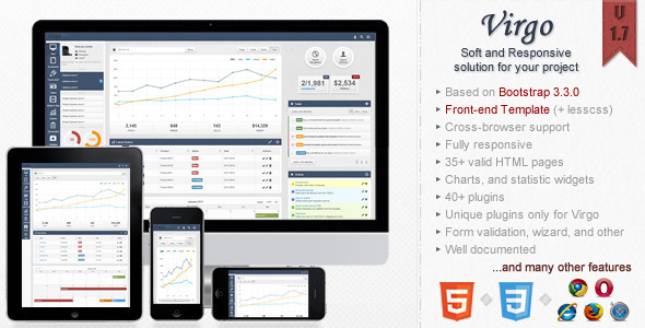 Virgo - Responsive Bootstrap 3 Admin Template Download