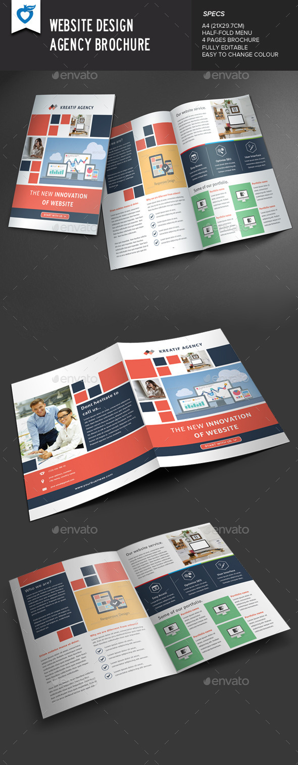 GraphicRiver Website Design Agency Brochure 9562526